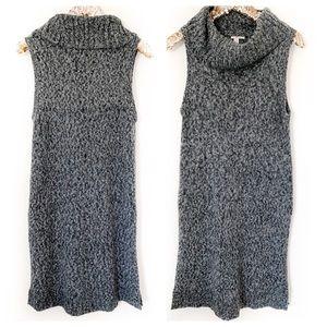 Halogen Chunky Knit Sleeveless Turtleneck Tunic